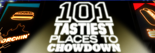101 Tasties Places to Chowdown